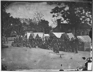 3 Infantry_company_on_parade_-_NARA_-_525065